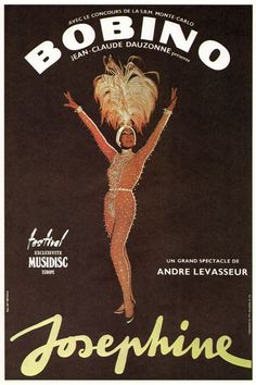 Josephine Baker Vintage French Poster 95 x 145 by JohnKlineArtwork, $10.00