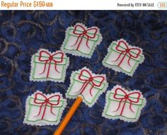 ON SALE Christmas Present pencil toppers stocking stuffers Christmas party favors Buy 1 or several