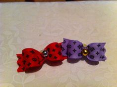 Dog Bow Little Louie 2 Pack  Size 5/8 by poshpupbows on Etsy, $5.00