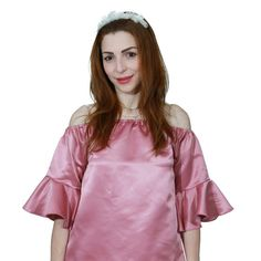 Off -The -Shoulder Pink Dress Top You can order via whatsapp 00971-56-5630020