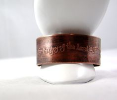 Copper Cuff Christian Bracelet Scripture by BlingsByChristy