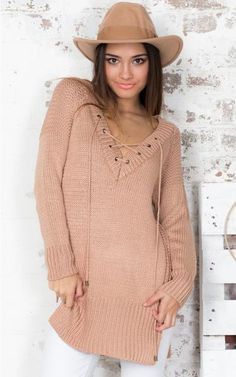 Leisure Pullover V-neck Knit Solid Color Sweater