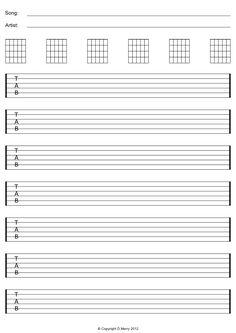 printables free guitar tab - Google zoeken