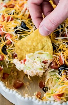 The BEST, easiest Taco Dip! This is so easy to make and so good! #tacodip #recipe #dip #cookout #summerfood Cold Taco Dip, Easy Taco Dip, Easy Chip Dip, Seven Layer Dip, 5 Layer Bean Dip, 7 Layer Mexican Dip, 7 Layer Taco Dip, Layered Taco Dip, Taco Salad Dip