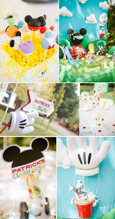 Mickey Mouse Clubhouse 1st Birthday Party with TONS of cute ideas! Via Kara's Party Ideas KarasPartyIdeas.com #mickeymouse #birthday #party #ideas #supplies
