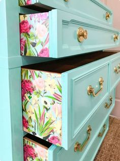 Dresser, wallpaper on the sides, bedroom furniture peek a boo pattern
