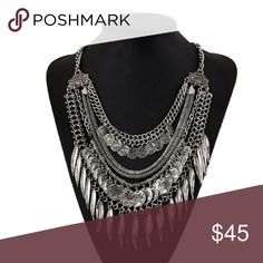 Extreme Bohemian Necklace New Silver plated statement necklace...See all styles for more follow us to see new items posted daily! We carry the latest in women's and kids & man fashion...limited edition makeup jewelry swimsuits and more!! Rima Imar Jewelry Necklaces