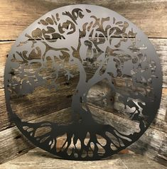 "See our internet site for even more relevant information on ""metal tree wall decor"". It is a superb location to learn more. Tree Wall Decor, Wall Art Decor, Custom Metal Art, Vinyl Shutters, Metal Tree Wall Art, Tree Sculpture, Hanging Art, Unique Home Decor, Metal Walls"