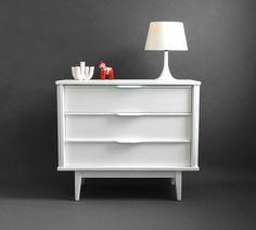 Vintage Wood Dresser  Mid Century Modern Cabinet Retro by Hindsvik, $295.00