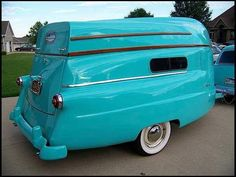 I think the trailer is made from an old ford panel or station wagon and the boat is on top