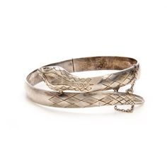 Silver Snake Bangle by Wendy Mink Jewelry