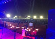 Ahmedabad Concert venue. Packed and ready to rock.