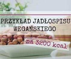 Przykład jadłospisu dla osoby chcącej przytyć - 3200 kcal lub więcej | Dieta roślinna, zarządzanie sobą