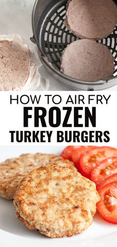 Did you know you can cook a frozen turkey burger in the air fryer? Cooking frozen burgers whether beef or turkey is a great way to get an easy healthy dinner on the table with a cook time of under 20 minutes! Make these juicy air fryer turkey burgers for anyone on keto, Whole30 or any healthy diet. Air Fryer Oven Recipes, Air Frier Recipes, Air Fryer Dinner Recipes, Cooking A Frozen Turkey, Cooking Turkey Burgers, Burger Cook Time, Turkey Burger Seasoning, Turkey Patties, Air Fryer Cooking Times