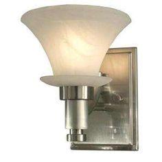 Hampton Bay Flair Collection 3 Light Brushed Nickel Bath Light ...
