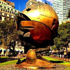 The Sphere used to sit on the WTC plaza in the fountain as a symbol of peace...