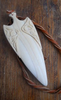 Arrow head carved in Aspen by AtelierWizArt on Etsy