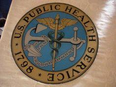 U.S. Public Health Service acrylic sign