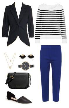 """Blue with Black Stripes"" by megan-martin-i on Polyvore"