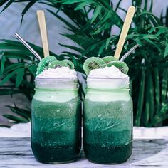 """8,229 Likes, 110 Comments - LINA SABER 🌴 (@tropicallylina) on Instagram: """"Jungle Smoothie Treats for two 🌴🍃✨ topped them with chilled coco cream and dehydrated kiwifruit…"""""""