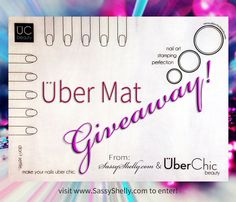 Review and Giveaway of the Uber Mat from UberChic Beauty. Enter to win the year's must-have nail art invention. A soft silicone mat to create nail stamping reverse decals and let your creativity come alive!