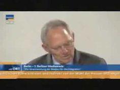 Stasi 2.0 Initiator Schäuble sagt ungewollt die Wahrheit, korrigiert sich aber sofort wieder.