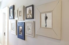 FOUND by domestic bliss: our house - idea for guest bedroom frames