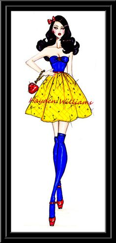 Hayden Williams Fashion Illustrations: The Disney Diva's collection by Hayden Williams: Snow White