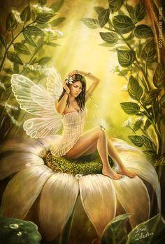 Fairy on a flower