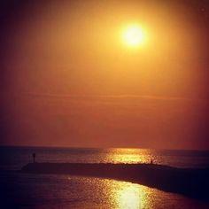 Mimizan... Coucher de soleil... Ça me manque...