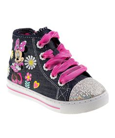 Once your little one laces up these dazzling Disney hi-tops she ll be ready  to run and play with a bounce in every step just like Minnie Mouse. 3533596db