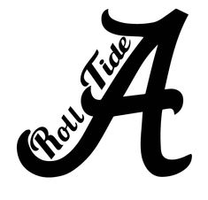 logo university of alabama crimson tide white a red outline rh pinterest com alabama logo pumpkin stencil university of alabama logo stencil