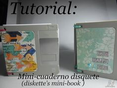 Life of watercolors: tutorial: libreta disquete