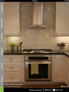 KM- Stovetop over built-in oven and designer hood. I prefer this over a slide in.