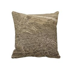 Vintage Pictorial Map of Chattanooga (1886) Pillow from Zazzle.com $62.40