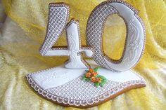 K narozkám No Bake Cookies, Sugar Cookies, Fondant, Birthday Cookies, Letters And Numbers, Cookie Decorating, Gingerbread, Cupcakes, Symbols