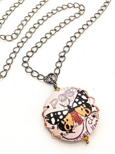 Butterly Pendant Black Chain Necklace #butterfly by UrbanClink