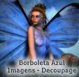 Borboleta Azul: Marcadores de Páginas
