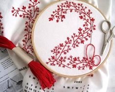 MANY embroidery designs; pictures/instructions