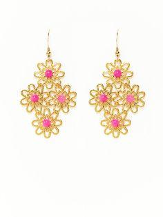 Filigree Diamond Shape Earrings by KEP