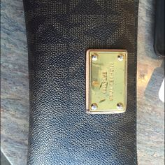 MK Brown Wallet In great condition besides scratches on gold part shown in picture Michael Kors Accessories