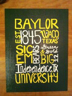 Baylor University Sign