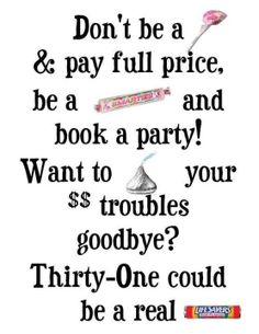 Be a Smarty, Book A Party with Thirty-One!  www.mythirtyone.com/kaydeeperkins