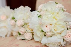 Blush and light colored bouquet - Champagne Affair Inspired Wedding