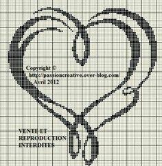 heart Cross Stitch Pillow, Cross Stitch Heart, Cross Stitch Alphabet, Cross Stitch Kits, Cross Stitch Designs, Cross Stitching, Cross Stitch Embroidery, Cross Stitch Silhouette, Wedding Cross Stitch Patterns