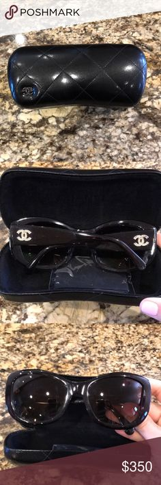 Chanel Sunglasses Chanel Sunglasses. Gold diamond Cs on the side CHANEL Accessories Sunglasses