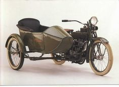 I love sidecar motorcycles, especially vintage models.