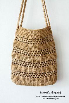 Striped net bag: crochet hook bag - My CMS Knitting Room, Diy Crochet And Knitting, Crochet Tote, Crochet Market Bag, Crochet Handbags, Crochet Purses, Filet Crochet, Crochet Hooks, Crotchet Bags