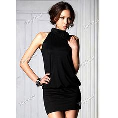 Seductive One-piece Dress Skinny Dress Nightclub Wear for Women Ladies NWX-130277