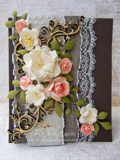 floral and lace card by Christy Sugiarto